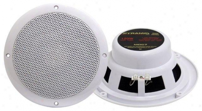 Pyramid 6.5'' Marine 120 Watts Dual Cone Waterproof Stereo Speakers