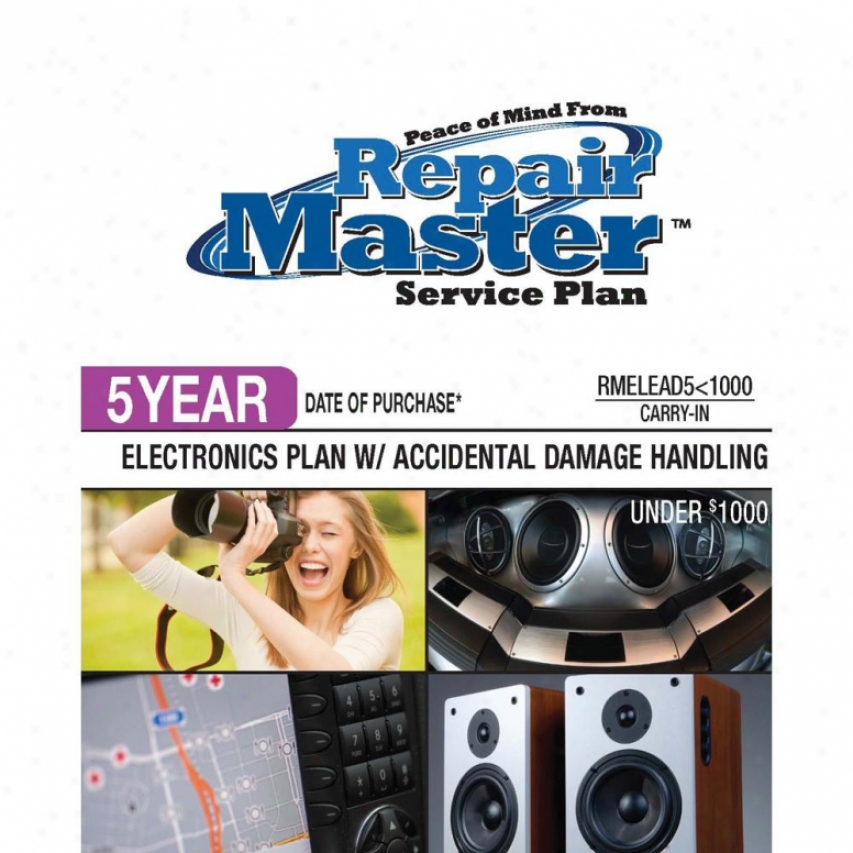 Repair Master Elead5u1000 5-year Electronics Accidental Damage Plan