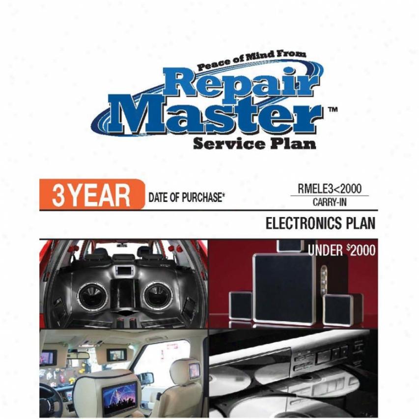 Repair Master Rmele3u2000 3-year Electronics Warranty Service Plan