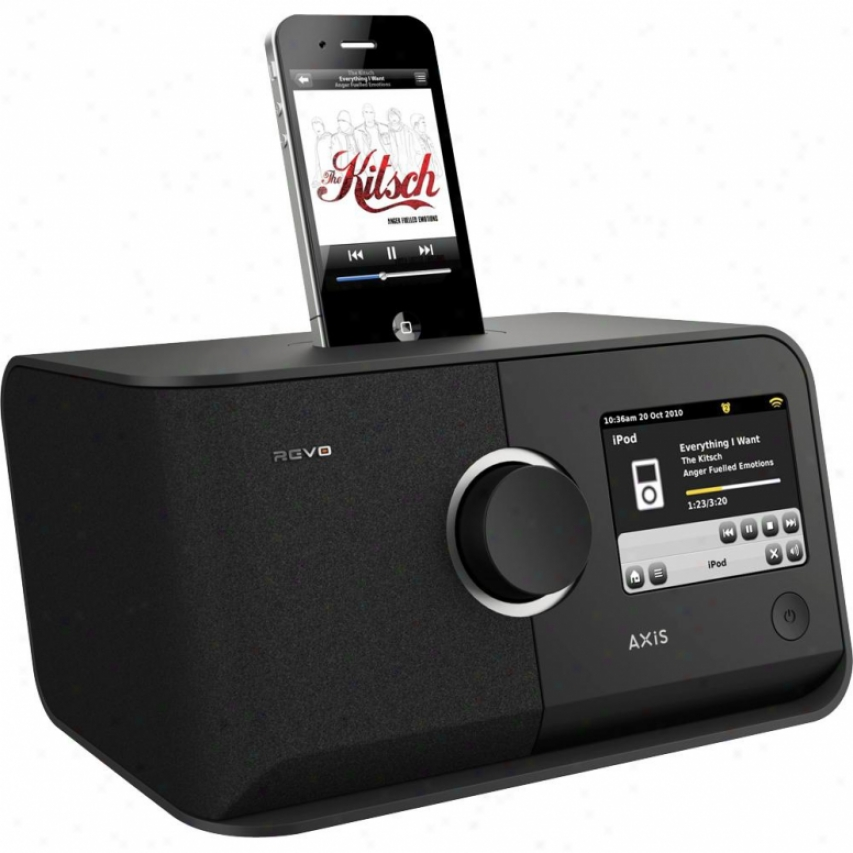 Revo Axis Compact, ?connected? Digital Radio With Touchscreen And Dock For Ipod