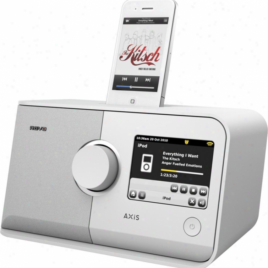 Revo Open Box Axis Wireless Internet Radio With Ipod Dock Axis - White