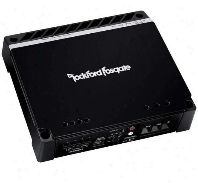 Rockford Fosgate 300 Watt Mono Amplifier W/top Mounted Led Indicators