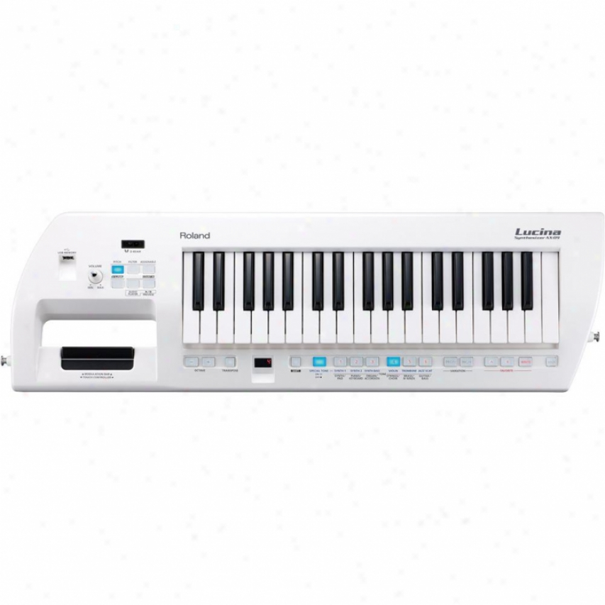 Roland Ax-09 Lucina Shoulder Keyboard Synthesizer - Pearl White