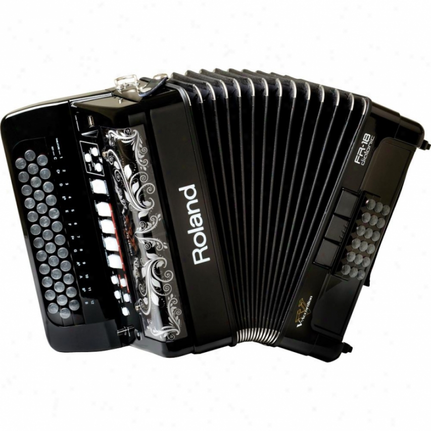 Roland Fr-18 Diatonic V-accordion - Black