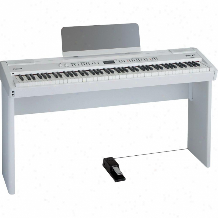 Roland Supernatural Digital Piano Wit Be erect Fp-7f - White