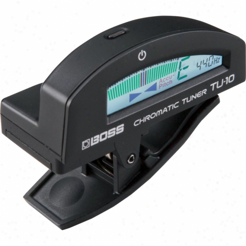 Roland Tu-10bkc Clip-on Chromatic Tuner-black