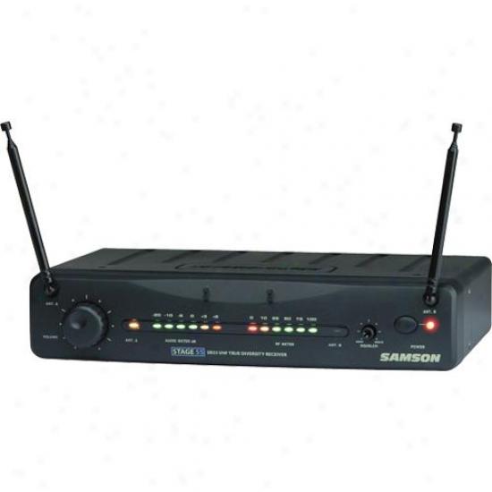 Samson Audio Open Case Sw55r00-02 Stage 55 True Dversity Wireless Receiver