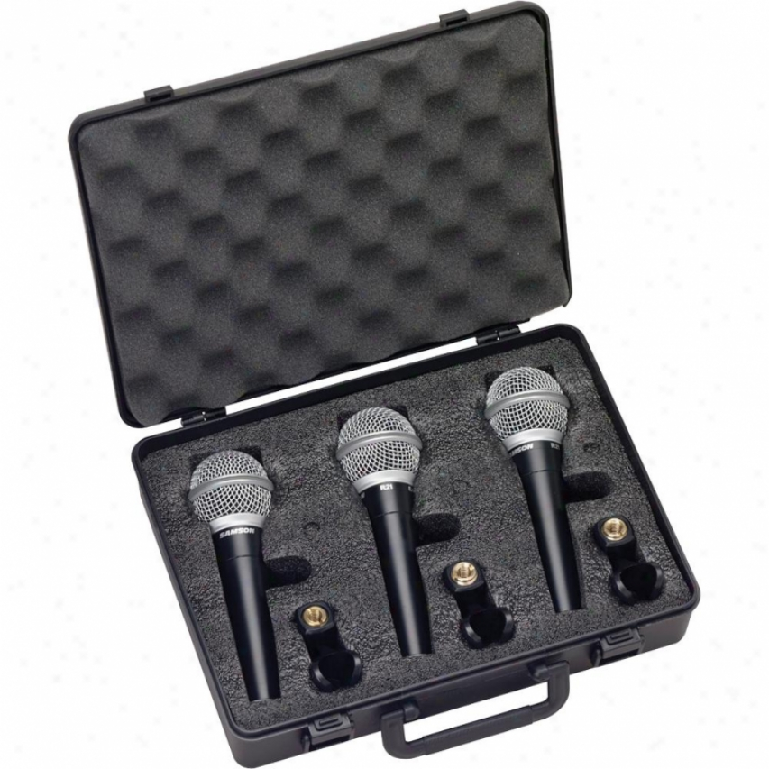 Sam0sn Audio R21 Microphone 3-pack With Case