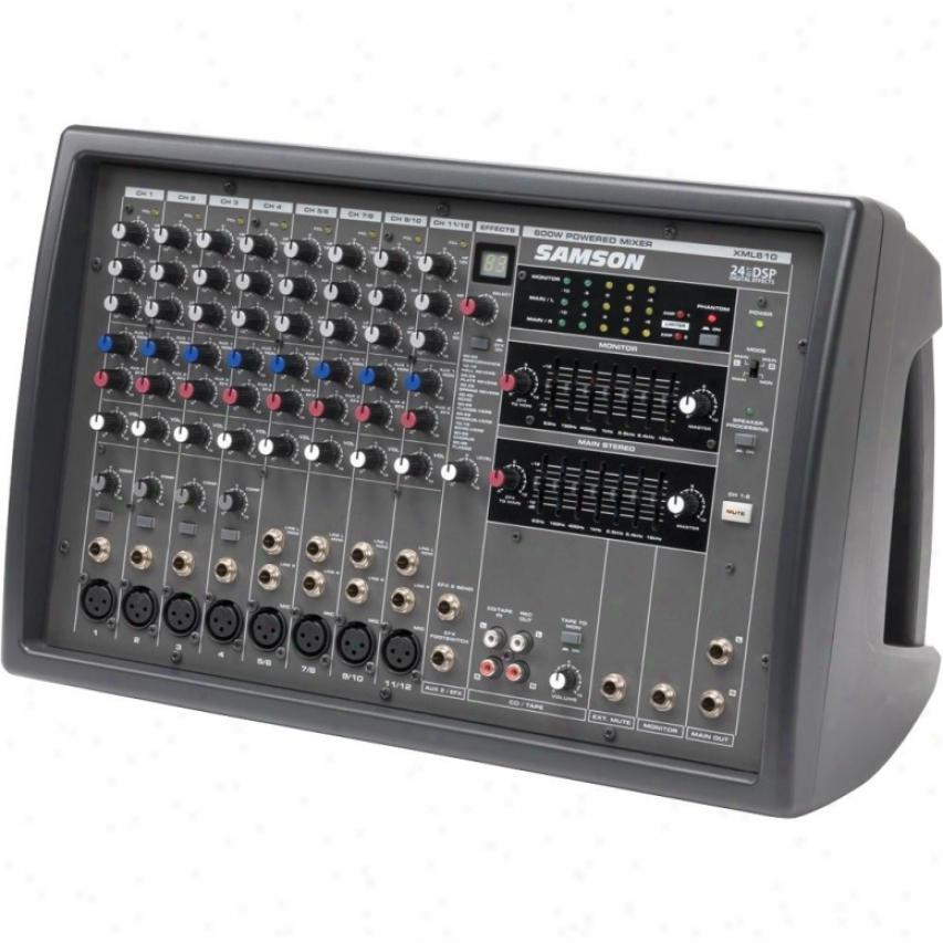 Samson Audio Xml610 600w 12 Channel Stereo Powered Mixer
