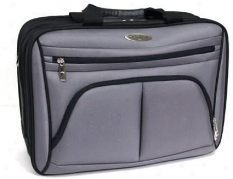 Samsonite Polyster Portfolio Colleftion 5 Triple Gusset Top Zip Computer Cas,