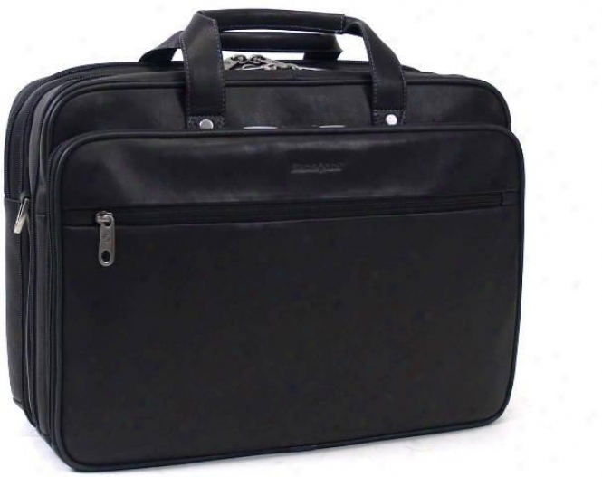 Samsonite Versitile Portfolio/computer Case W/full Fibre Cowhide Leather Exterio