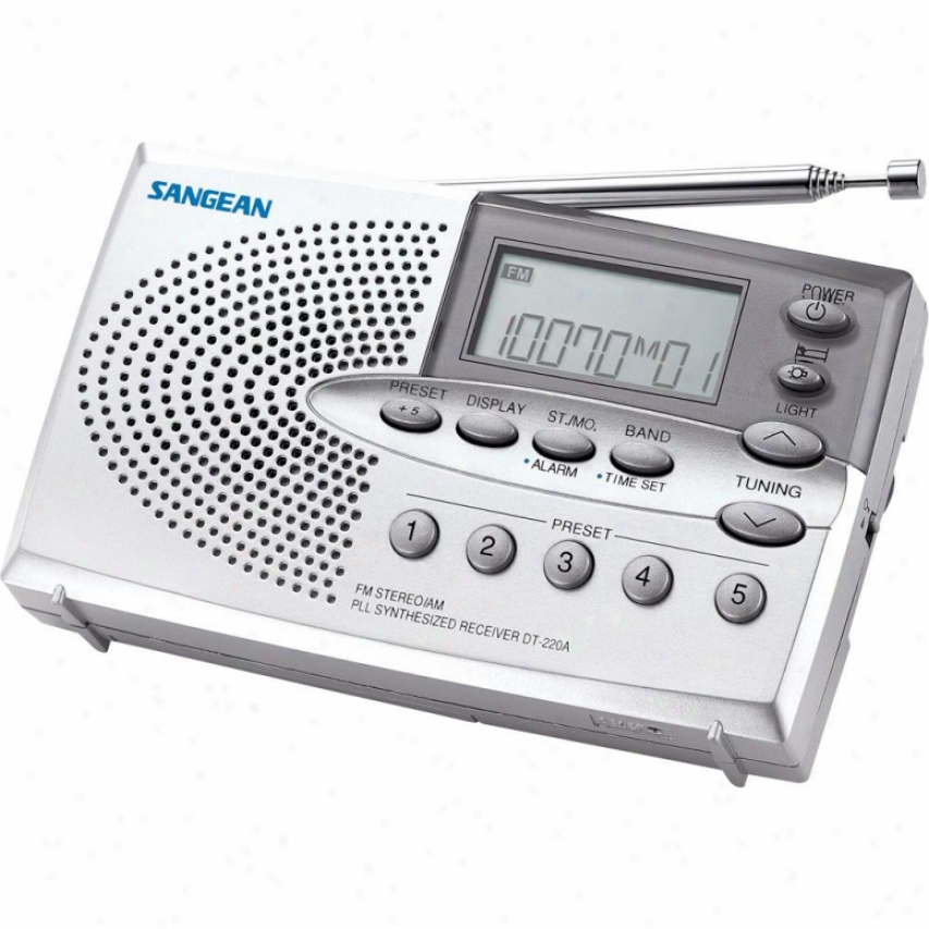 Sangean Dt220a Am/fm Digital Pocket Radio