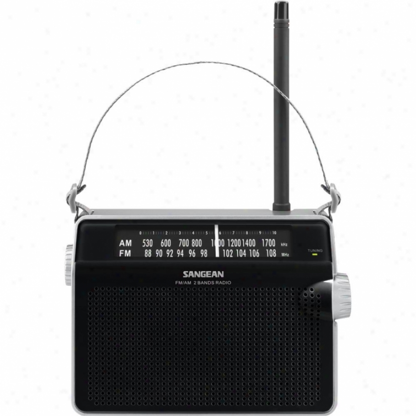 Sangean Pr-d6 Am/fm Compact Analog Portable Radio - Black