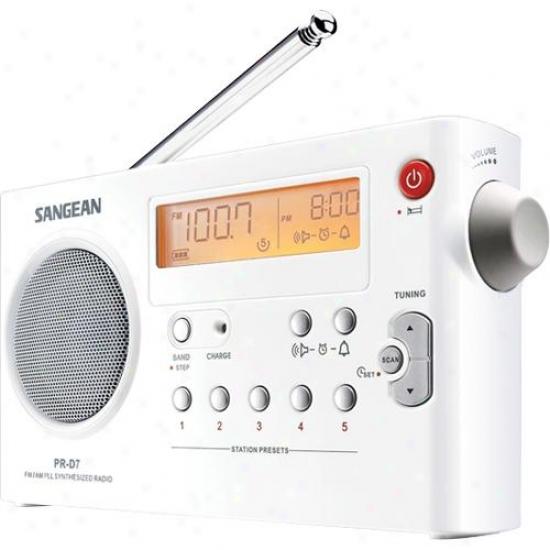 Sangean Pr-d7 Digitai Tuning Portable Stereo Receiver