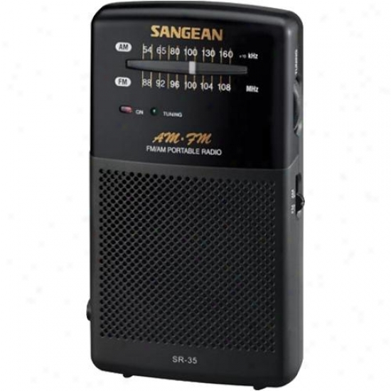 Sangean Sr-35 Fm/am Handheld Recejver W/ Built-in Speaker