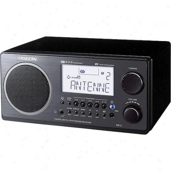 Sangean Table Top Am/fm Radio Receiver Wr2 Black