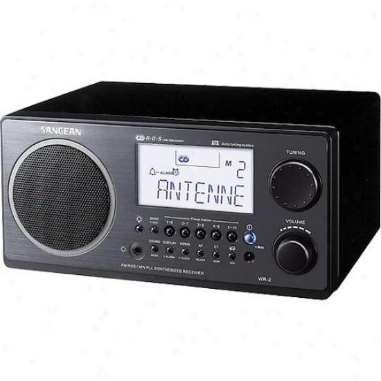 Sangean Table Top Am/fm Radio Receiver Wr2 Black