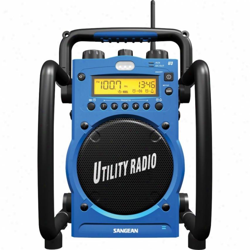 Sangean Utility Radio Digital A/m F/m Water Resistant Sgn U3