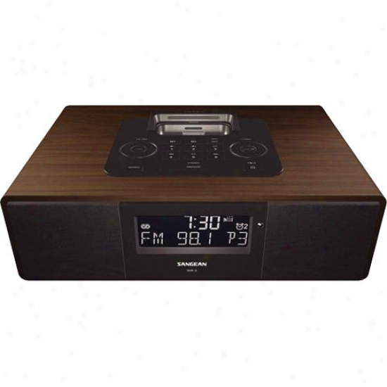 Sangean Wr-5 Am/fm-rdbs Wooden Table-top Radio With Ipod Dock