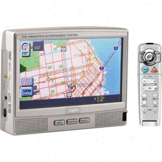 Sanyo Touch Hide Portable Navigation &amp; Dvd Entsrtainment Sysyem