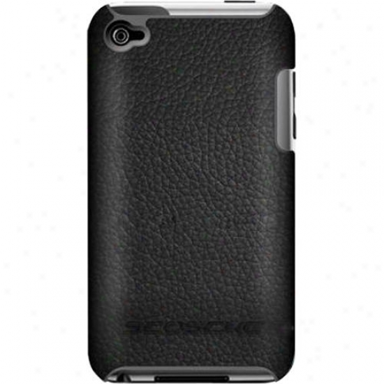 Scosche Polycarbonate Case With Genuine Leather Exterior For Ipod Touch (gen 4)