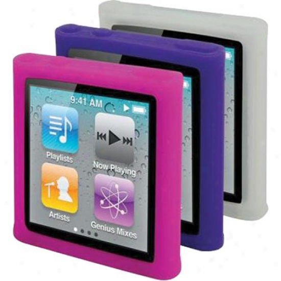 Scosche Tightgrip T6 - (Daybreak) 3 Pack Of Silicone Skins For Ipod Nano (gen 6)
