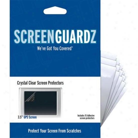 "Screenguardz Nlsgps30209 Crystal Clear 3.5"" Gps Screen Protectors"