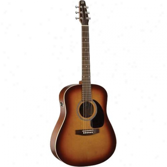 Seagull Coastline S6 Gt Qi Dreadnought Acoustic-electric-rustic Burst Semi-gloss