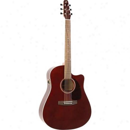 Seagull Emtourage Gt Cw Qi Guitar - Bu5gundy