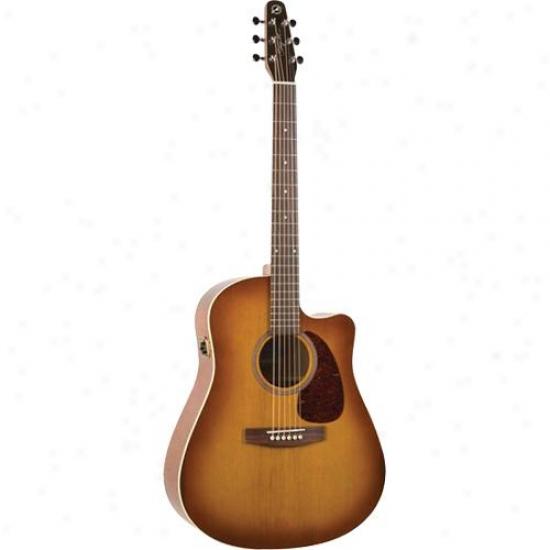 Seagull Entourage Gt Cw Qi Guitar - Rustic Burst