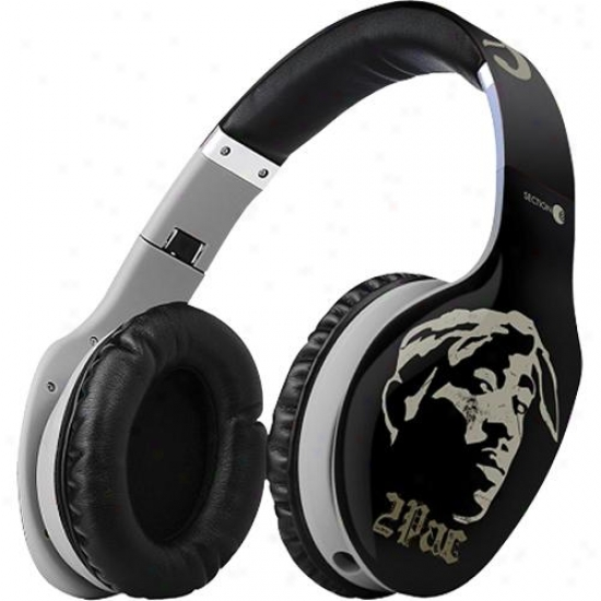 Section 8 Tupac Shakur Super Bass Pro Headphones