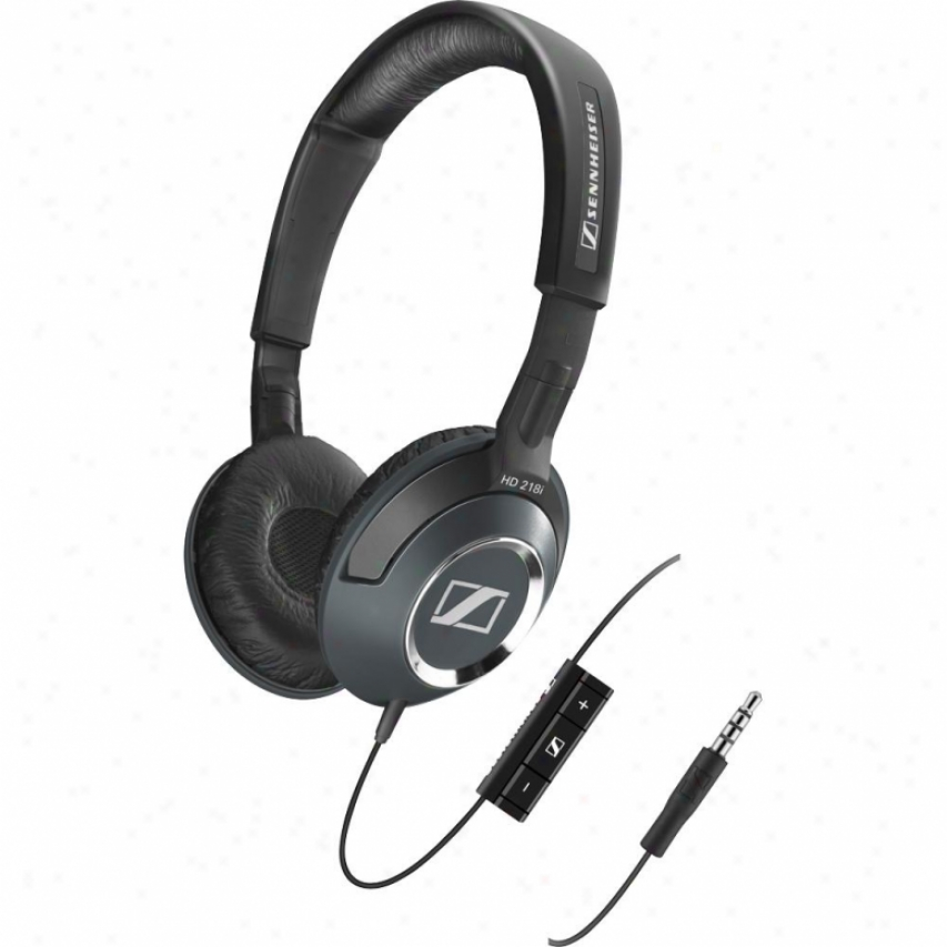 Sennheiser Hd 218i On-ear Closed Back Heaphones With Mictophone & Smart Remote