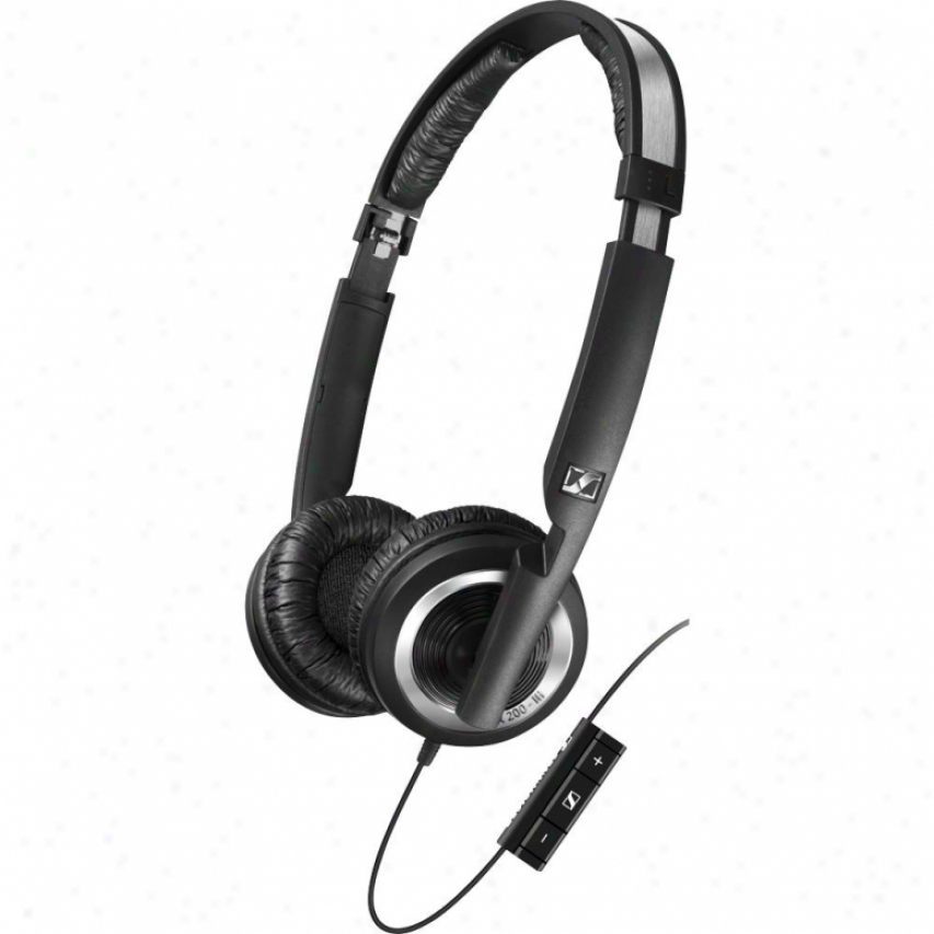 Sennheiser Px 200-iii High Performance Headset With Mic & Smart Remofe - Black
