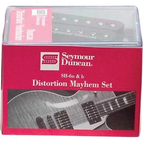 Seymour Duncan Distortion Mayhem Sh-6 Humbucker Pair - Black - 1108-21-b