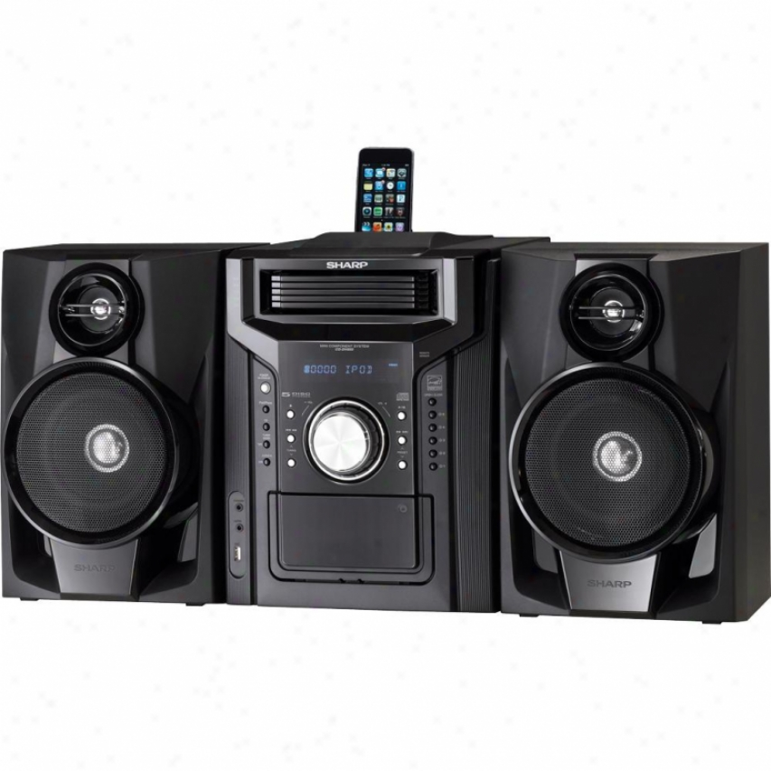 Sharp Cd-dh950p 5-disc Cd Changer Mini Audio System With Ipod Dock