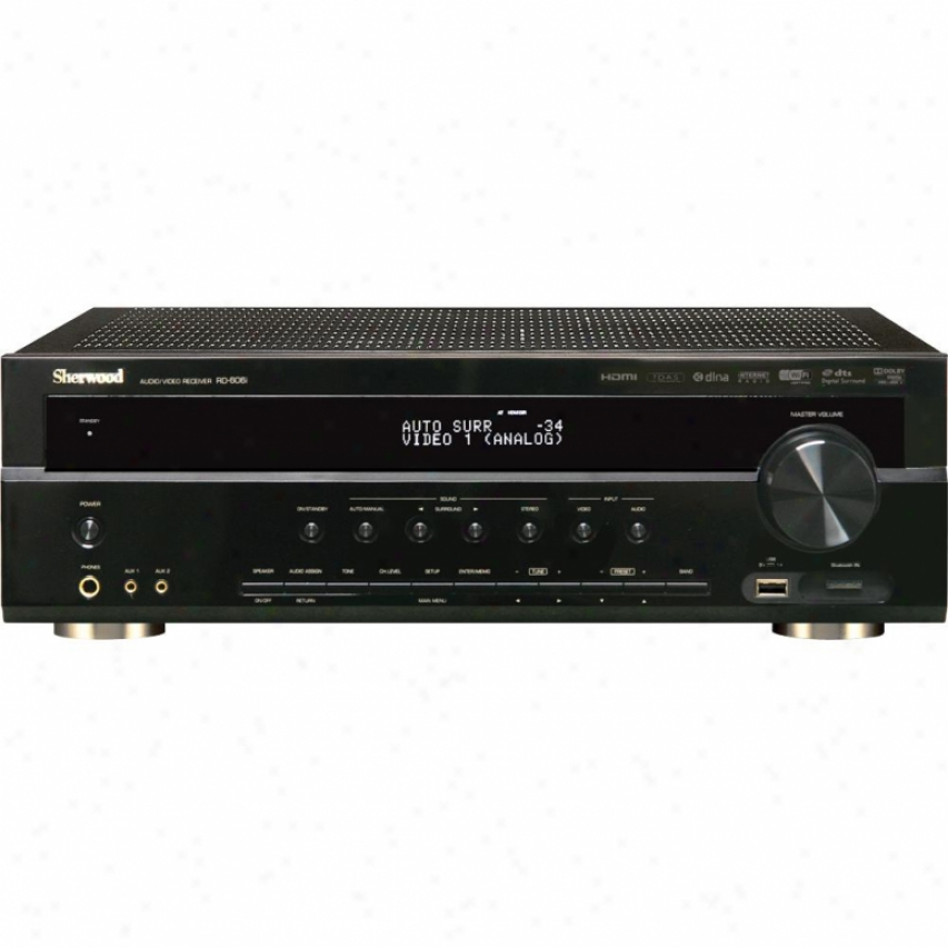 Sherwood Rd-606i 5.1 Home Theater Receiver With Networking