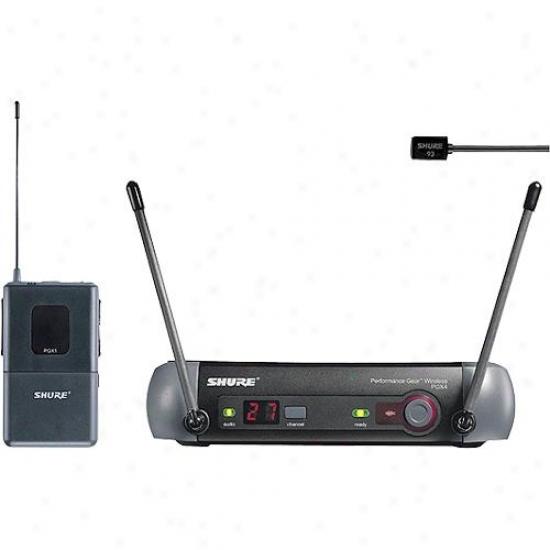 Shure Pgx14-93 Uhf Lavwlier Bodypack Wireless Mic System