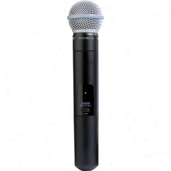 Shure Pgxd2/beta58 Handheld Transmitter With Beta 58a Microphone