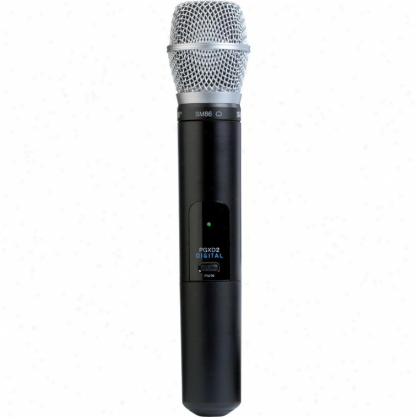 Shure Pgxd2/sm86 Handheld Transmitter With Sm86M icrophone