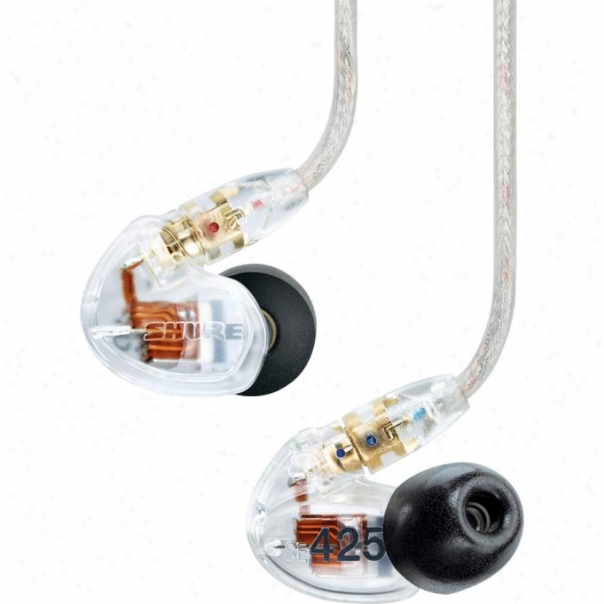 Shure Se425 Dual Driver Earphones - Clear