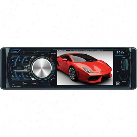 "Single-din Car 3.6"" Widescreen Tft Monitor Am/fm Receiver"