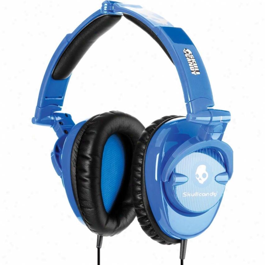 Skullcandy Skullcrusher 2011 Blue Pinstripe Headphones - S6skdy119