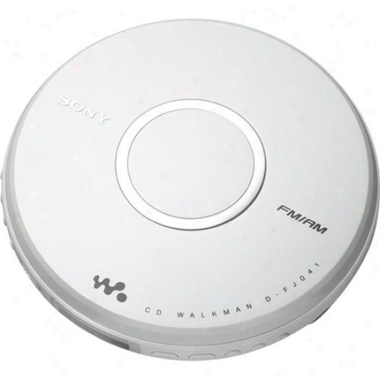 Sony D-fj041 Cd Walkman® With Am/fm Tuner