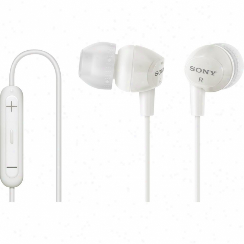 Sony Dr-ex12ip In-ear Headphones With Microphone - Ipod / Iphone - White
