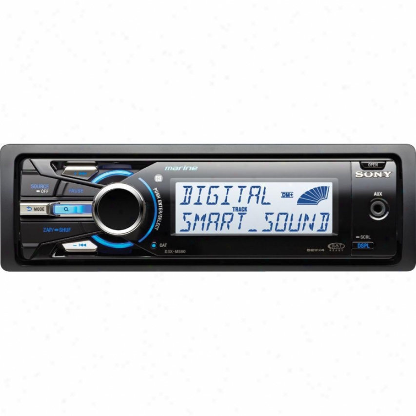 Sony Dsx-ms60 Am/fm Mp3/wma Marine Digital Media Receiver With Usb