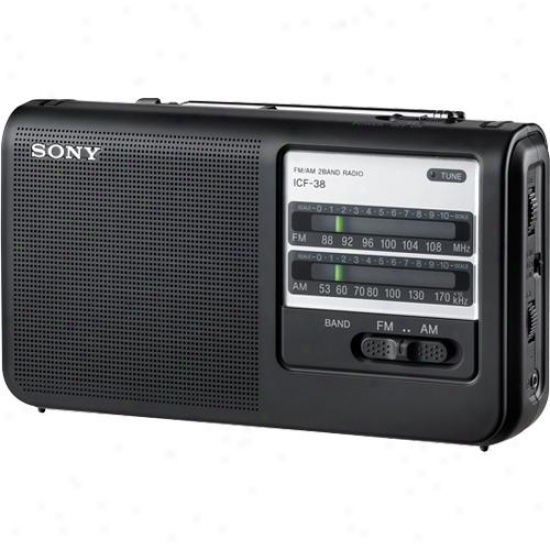 Sony Icf-38 Am/fm Portable Radio