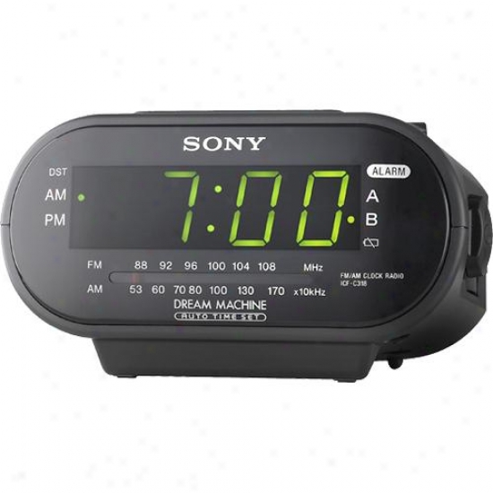 Sony Icf-c318 Am/fm Clock Radio ( Black )
