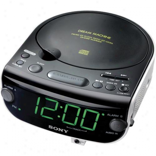 Sony Icf-cd815 Cd Clock Radio With 3-mode Dual Alarm (cd/raro/buzzer)