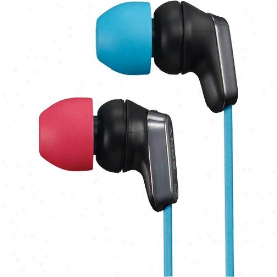 Sony Mdr-ex35lp/br Ex Earbuds - Blue/red