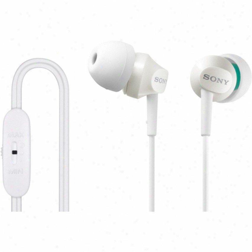Sony Mdr-ex58v Ear Bud Headphones - Pale